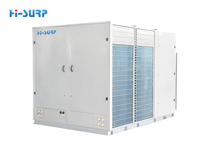 Unidad de aire acondicionado empaquetada en la azotea